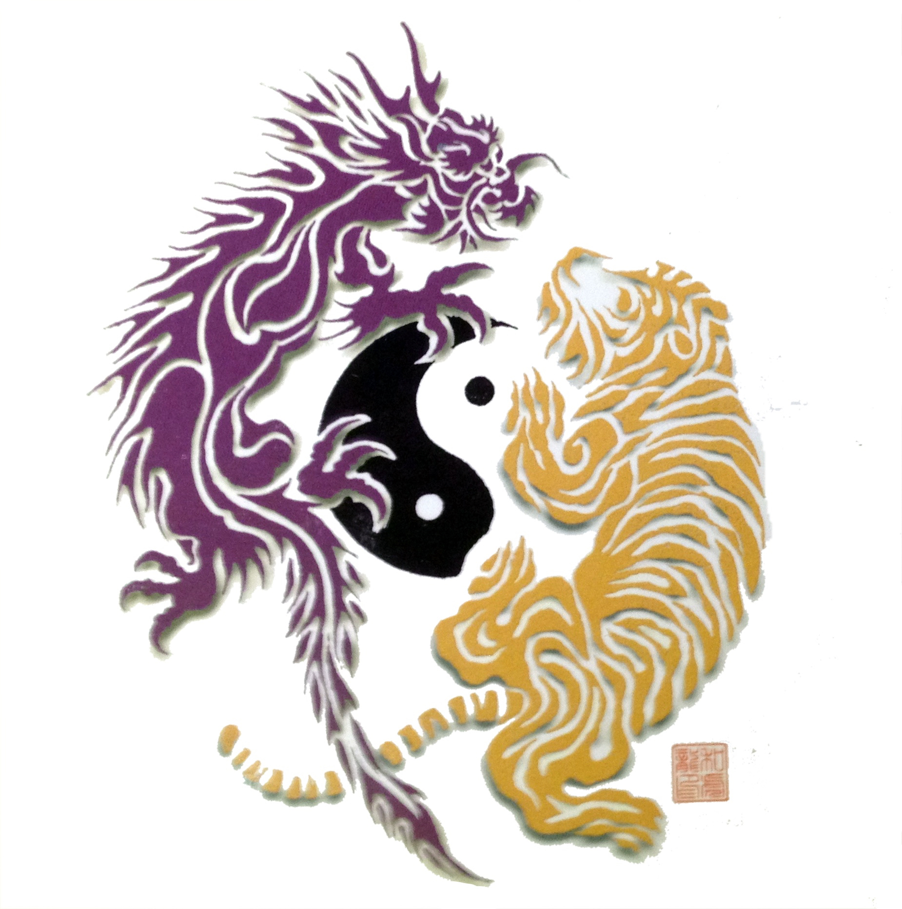 logo dragon tiger